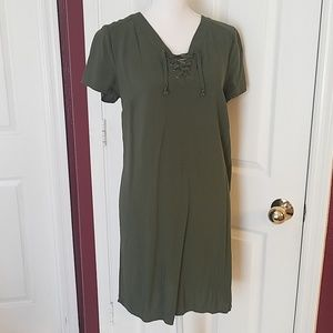 Olive Green Lace Up Size Medium 8/10